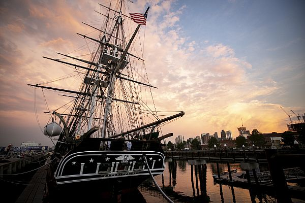 USS Constitution at Sunset